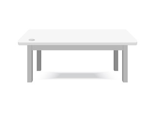 Computer White table isolated on background
