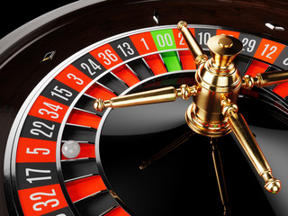 Casino gold roulette close up