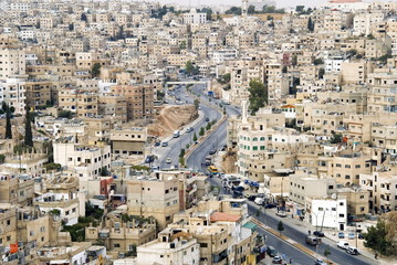 View over city, Amman, Jordan, Middle East