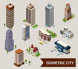 Isometric City  Isolated Icons
