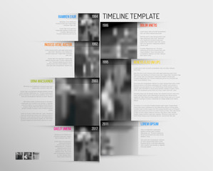 Infographic Timeline Template with big photos