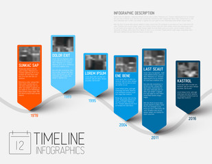 Infographic timeline report template with photos