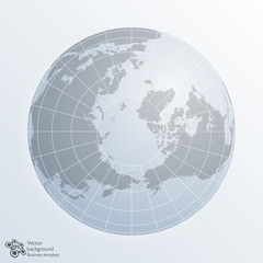 Global Image, Northern Hemisphere, World Map, Earth #Vector Graphic