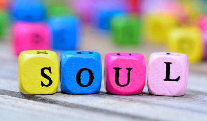Soul word on table