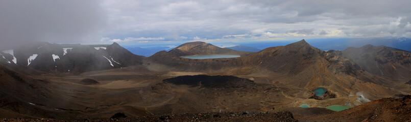 panoramic view of tongariro crossing