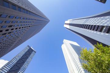 新宿の高層ビル街 Cityscape of Shinjuku,Tokyo