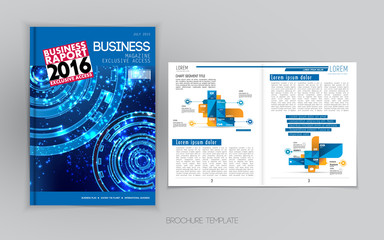Templates for brochure or magazine, vector