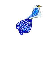 bird in shades of blue