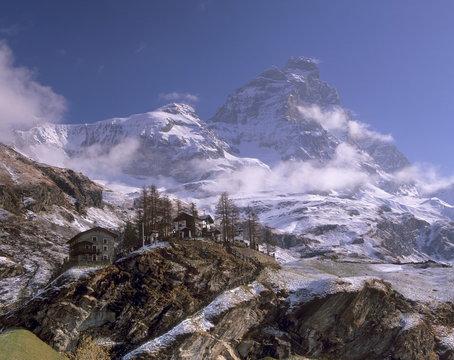 Monte Cervino (Matterhorn) (Cervin) from the Italian side, Aosta