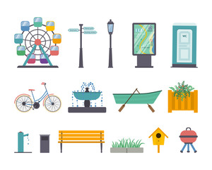 Vector park elements
