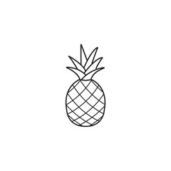 Pineapple & ananas line icon, healthy fruit, vector graphics, a linear pattern on a white background, eps 10.