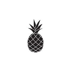 Pineapple & ananas solid icon, healthy fruit, vector graphics, a filled pattern on a white background, eps 10.