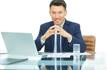 experienced accountant working with financial documents