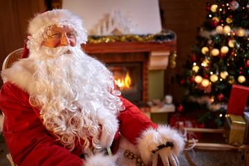 Portrait of real Santa Claus