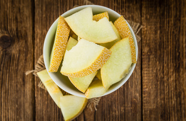 Portion of Honeydew Melon (selective focus)
