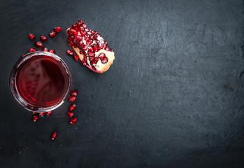Fresh made Pomegranate juice