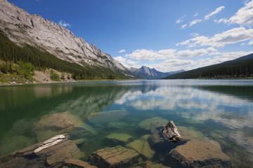 Medicine Lake, Jasper National Park, UNESCO World Heritage Site, British Columbia, Rocky Mountains, Canada, North America