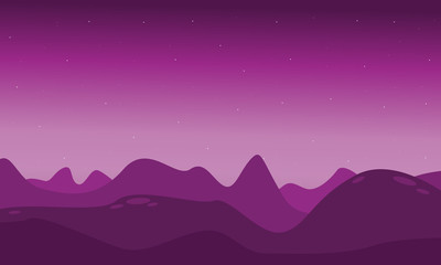 Lifeless landscape with mountain vector