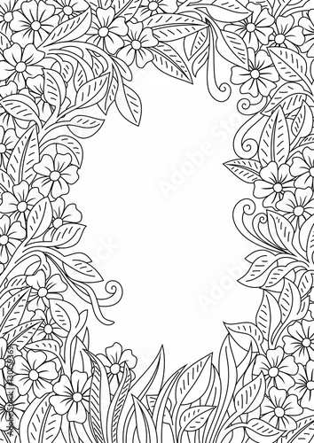 Flower Leaves Coloring Pages: Flower Coloring Pages.