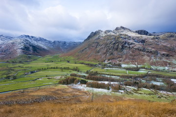 Langdale Pikes from Side Pike, Lake District National Park, Cumbria, England, United Kingdom, Europe