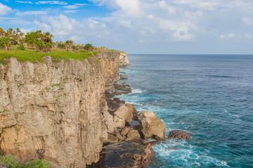 Rocky coastline of Tongatapu island, Kingdom of Tonga