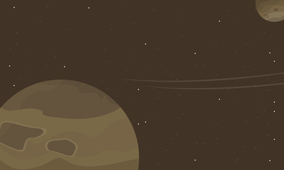 Outer space of scenery vector