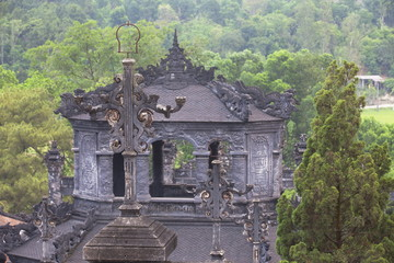 Tomb of Khai Dinh, UNESCO World Heritage Site, Hue, Thua Thien-Hue, Vietnam, Indochina, Southeast Asia, Asia