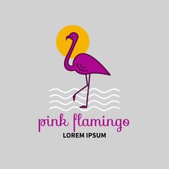 Vector logo Flamingo