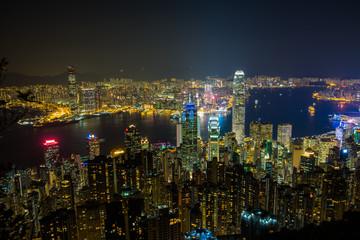 Scenic view of Hong Kong, Victoria Peak.