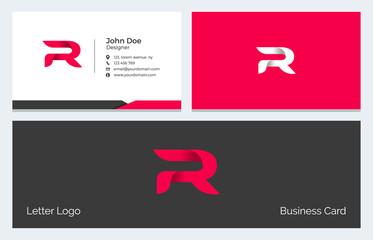 R Alphabet Letter Creative Polygonal Abstract vector logo