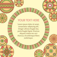 Colorful decorative background. Design for greeting card, invitation, certificate, gift. Free place for your text. Vector illustration