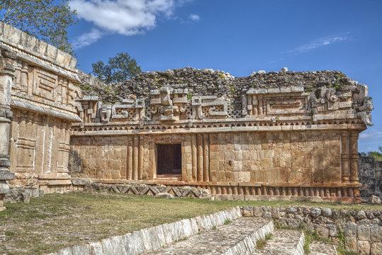 Chac Mask (Rain God), The Palace, Labna, Mayan Ruins, Yucatan, Mexico