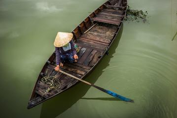 Vietnamese boats in Hoi An