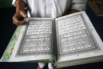 Koran reading, Bhaktapur, Nepal, Asia