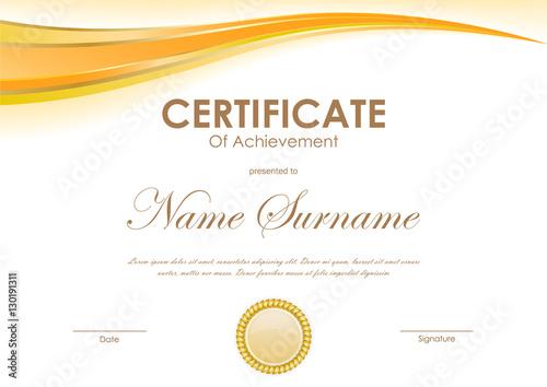 Certificate Of Achievement Free Template