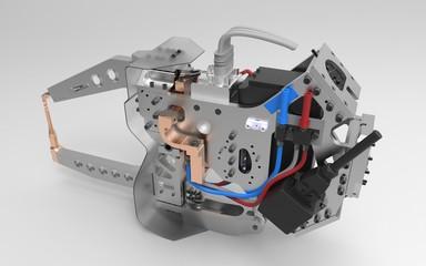 Roboter Automotive Schweisszange Welding Gun Back