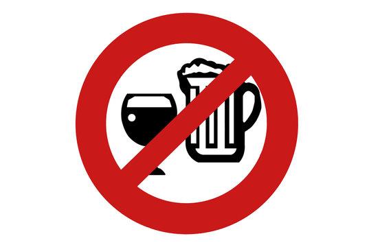 Panneau  interdiction alcool