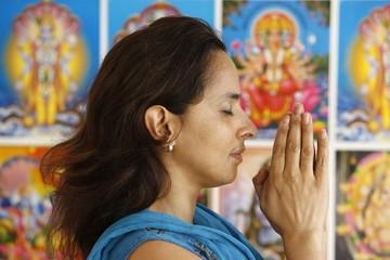 Hindu prayer, London, England, United Kingdom, Europe