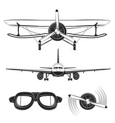 Aircraft Labels set. Vector Illustration