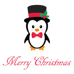 cute penguin with text on a white background