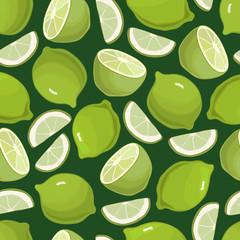 Citrus Background Limes Seamless Pattern