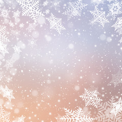Christmas abstract  snowflake background with space for text