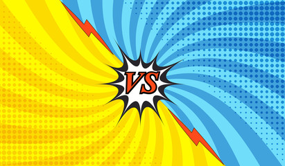 Comic fight colorful template