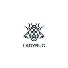 Outline Isolated Ladybug Logo