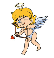 Vector Valentine's Day character, Angel