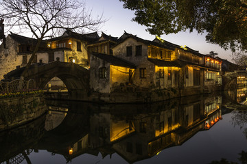 Zhouzhuang water village is Shanghai tourist attraction with 1,0