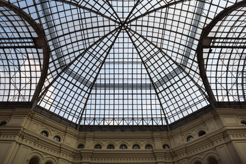 Lines of a glass roof, Moscow, Russia