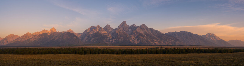 Grand Teton Mountain Range Panorama