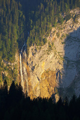 Waterfall Röthbachfall in Berchtesgaden National Park, Germany