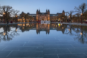 The Rijksmuseum museum in Amsterdam, Holland, Netherlands